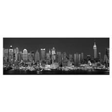 New York, New York City, Panoramic view of the Wes Framed Print